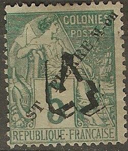 St. Pierre & Miquelon 48 Y&T 50 MNG F/VF 1892 SCV $16.00
