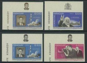 Paraguay 1965 Imperf John F Kennedy set Sc# 887-94 NH
