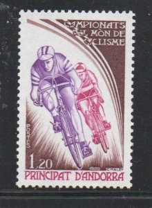 Andora (Fr) Sc 278 1980 Bicycling Championships stamp mint NH