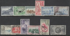 Barbados, Sc 216-227 (SG 271-282), used (1c unused)