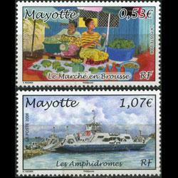 MAYOTTE 2006 - Scott# 224-5 Market and Ferry Set of 2 NH