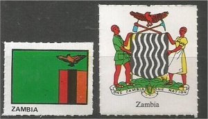 ZAMBIA. mint, Flag and Coat of Arms (no gum)
