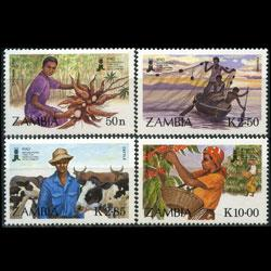 ZAMBIA 1988 - Scott# 436-9 Agriculture Set of 4 NH