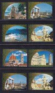 United Nations Vienna  #322-324f    MNH  2002  world heritage  Italy