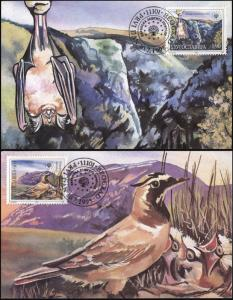 Yugoslavia. 1995. Nature protection in Europe (Mint) Set of 2 Maxi Cards