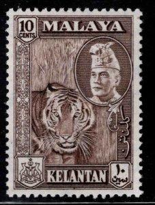 MALAYA Kelantan Scott 77 MH* Tiger stamp