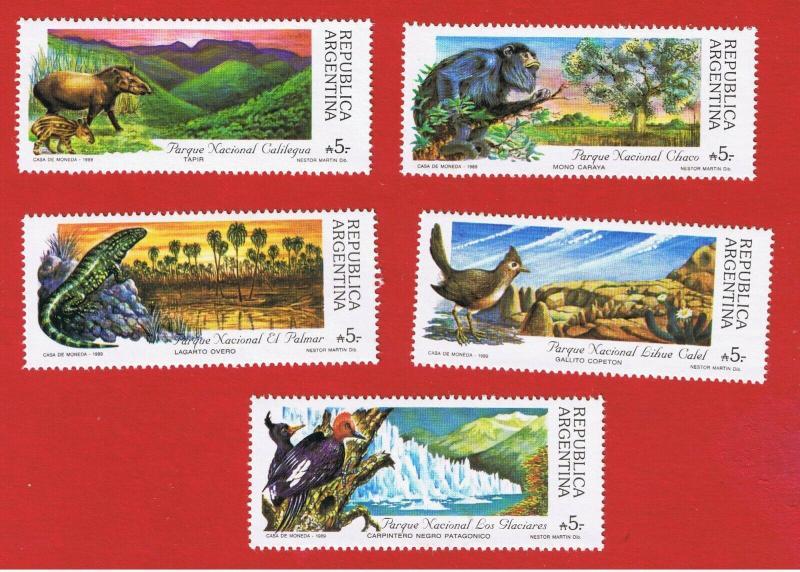 Argentina MNH 1647-51 Animals National Parks SCV 3.50