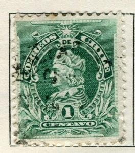 CHILE;   1901 early Columbus issue used 1c. value