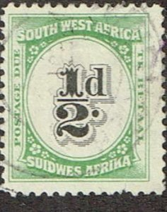 South West Africa  1931  J36  Used