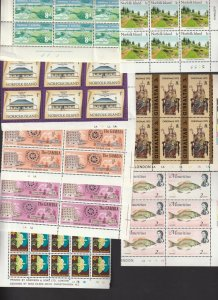 British Commonwealth a small lot of plate blocks