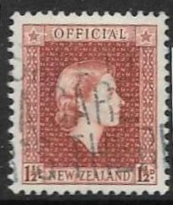 NEW ZEALAND SGO160 1954 1½d BROWN-LAKE USED