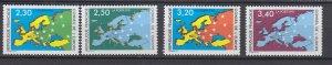 J29323, 1990-1 france set mnh #1o47-50 map