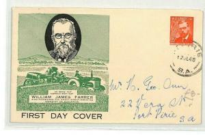 AUSTRALIA *William James Farrer* First Day Cover 1948 {samwells-covers} CG36