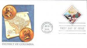 #3813 District of Columbia Fleetwood FDC