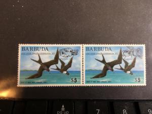 Barbuda Birds Scott #213-214 Mint VF-NH 1975 USA/USSR Space Co-Operation Ovpts..