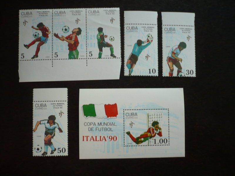 Stamps - Cuba - Scott# 3193-3197 - MNH Set of 6 stamps plus 1 Souvenir Sheet