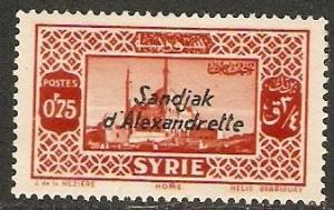 Alexandretta 1938 Scott 10 Syrian Stamp O'ped/surcharge MH
