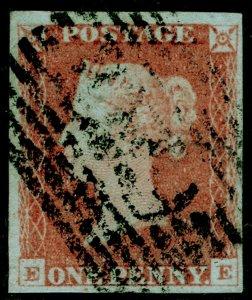 SG9, 1d pale red-brown, USED. Cat £45. 4 MARGINS. EE