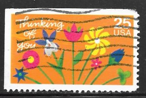 USA 2397: 25c Thinking of You, used, MNH, VF