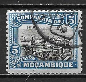 Mozambique Company 120 5c View of Beira single Used