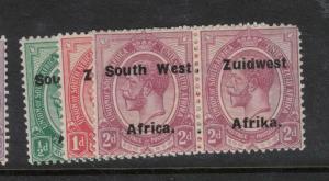 South West Africa SG 29-31 MOG (2dwd)