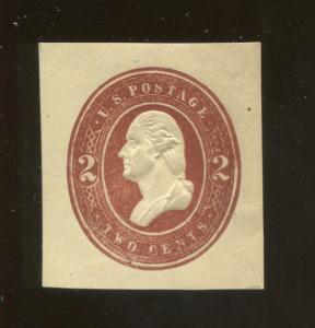 1884 United States of America George Washington 2c Postage Stamp #U261 CV $17.50