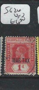 GILBERT & ELLICE IS  (P0607B)  KGV  WAR TAX  SG  26  VFU