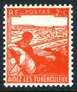 France B193, MNH. Tuberculosis Patient. Aid for tuberculosis victims, 1945