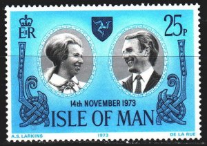 Isle Of Man. 1973. 35. Princess Anne's wedding in London. MNH.