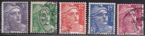 France 650-654  Marianne Set 1951