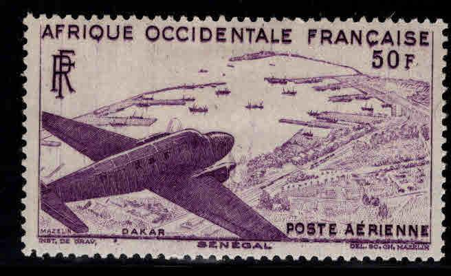 French West Africa Scott C12 MH* AOF Airmail stamp