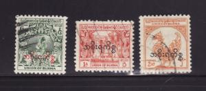 Burma O57, O59-O60 U Various