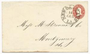 US Star Die Cover Used in CSA New Orleans, LA March 14, 1861