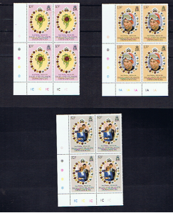 FALKLAND ISLAND DEPENDENCIES 1981 ROYAL WEDDING CYL BLOCKS