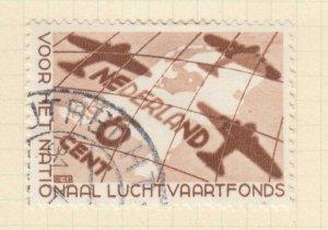 NETHERLANDS, 1935 Air Fund, 6c. Brown, used.