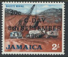 Jamaica SG 288 MH  SC# 287  Decimal Currency OPT see details