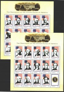 Liberia. 2000. Small sheet 3158-87. US Presidents. MNH.