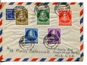 Berlin  Bell cover to USA    - Lakeshore Philatelics