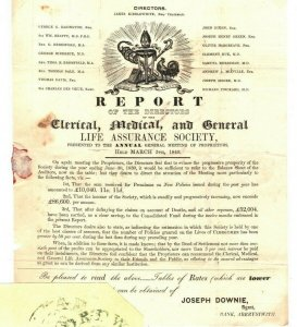 GB Wales MULREADY ADVERT Cover  1841 Agent ABERYSTWYTH MX CLERICAL MEDICAL A4G12