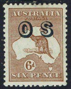 AUSTRALIA 1932 KANGAROO OS 6D SMALL MULTI WMK