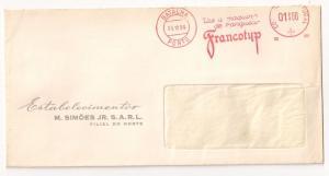 Portugal Meter Stamp: Francotyp slogan on full cover Scarce!