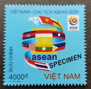 Vietnam Chairmanship ASEAN 2020 Flag Malaysia Singapore (stamp) MNH *Specimen