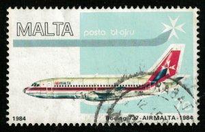 MALTA, Posta BL-AJRU, 7 cents, BOING-737, 1984 (T-7117)