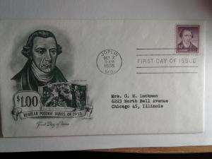 SCOTT # 1052A  $ 1.00 HENRY FIRST DAY OF ISSUE  1955