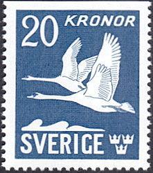 Sweden # C8 mnh ~ 20k Flying Swans