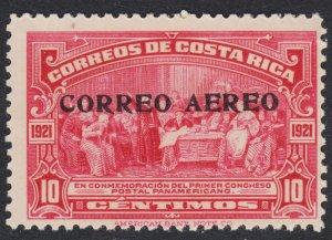 Costa Rica Scott C2 Fine mint OG VLH.