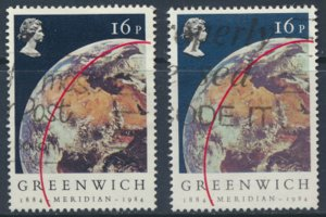 Great Britain  SG 1254  SC# 1058 Greenwich Meridian Used see detail and scan