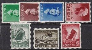 NORWAY^^^^^sc# B11//B37 x7 MNH SEMIS POSTALS $$@ lar 811nor
