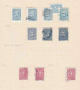 COLOMBIA 1904  STAMPS STUDY ON 1 PAGE MOUNTED MINT & USED  REF 5320