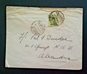 1941 Alexandria To Alexandria Egypt Field Post Office Air Ministry RAF Cover